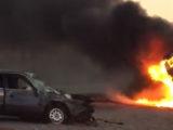 В жуткой аварии в Туркестанской области 1 погиб и 7 травмированы