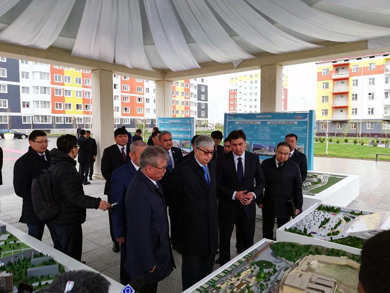 Президент Казахстана посетил Шымкент
