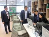 Вице-министру финансов показали работу контакт-центра ДГД по Шымкенту