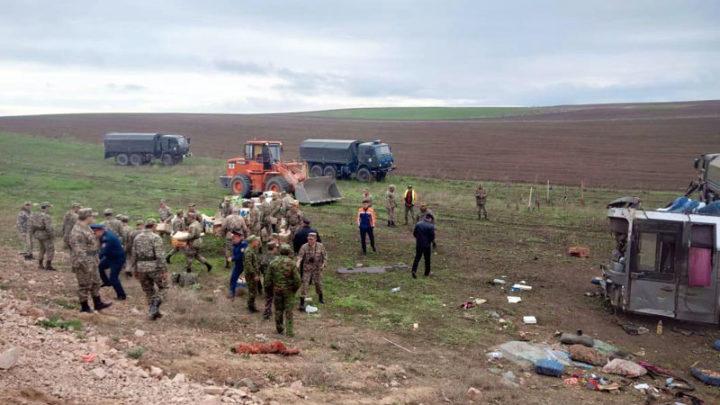 11 пассажиров автобуса погибли в аварии в Жамбылской области