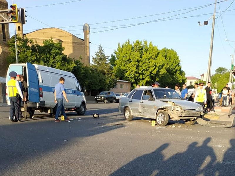 Мотоциклист разбился в Шымкенте