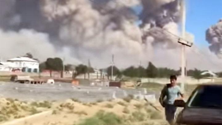 Эвакуационные и пожарные работы проводятся в Арыси