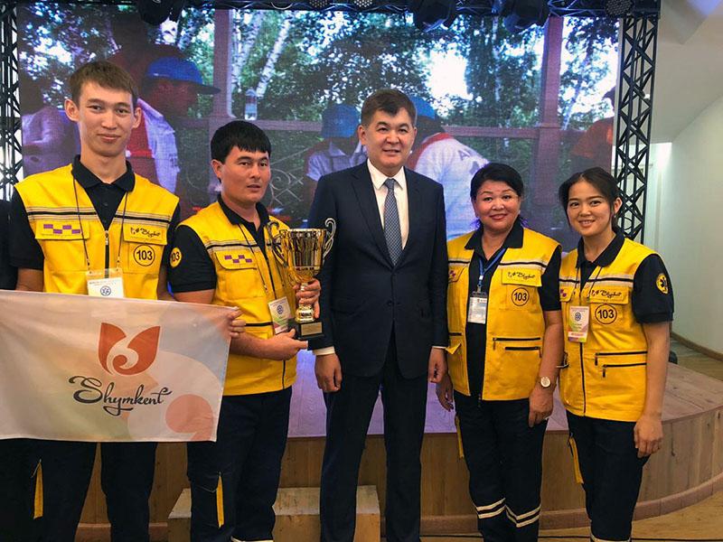 Бригада скорой помощи из Шымкента в числе лучших в стране