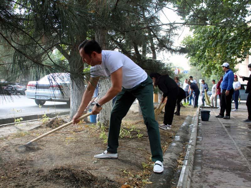 Экологический челлендж поддержали шымкентцы