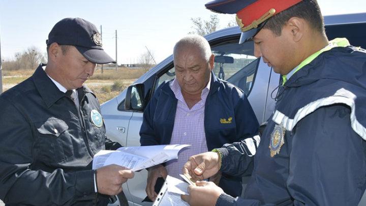 Незаконно переоборудованные автобусы разъезжали по дорогам Туркестанской области