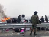 Массовая авария на трассе Шымкент-Сарыагаш произошла из-за гололеда