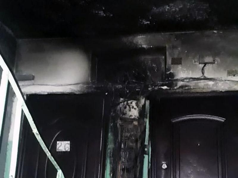 Из-за пожара эвакуировали жителей многоквартирного дома в Шымкенте