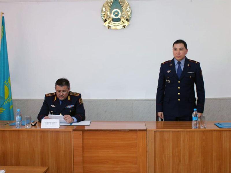 Полицейский Данияр Мейрхан получил новую должность