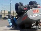 Бензовоз и легковые автомобили столкнулись в Туркестанской области