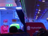 Пассажиров рейса «Шымкент – Нур-Султан» наказали за хулиганство на борту