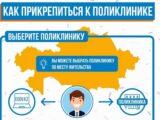 Кампания по прикреплению к поликлиникам началась в Казахстане