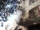 В задымленном здании колледжа Шымкента заблокировало беременную