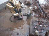 Почти 400 кубометров воды откачали спасатели из дворов в Шымкенте