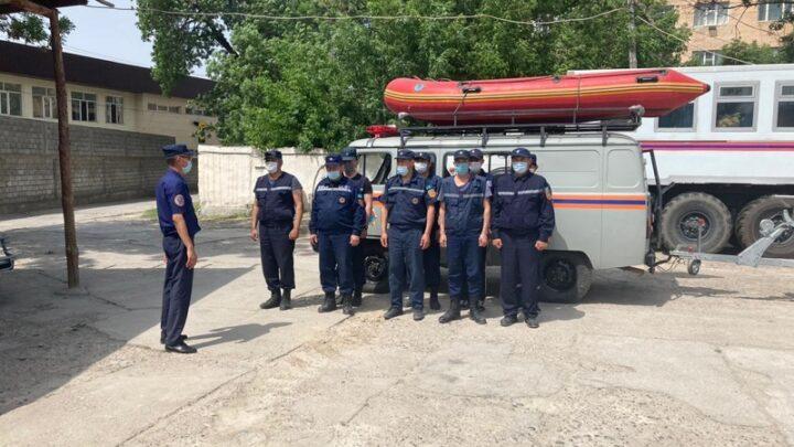 Спасатели Шымкента поехали на помощь коллеге в Жамбылскую область