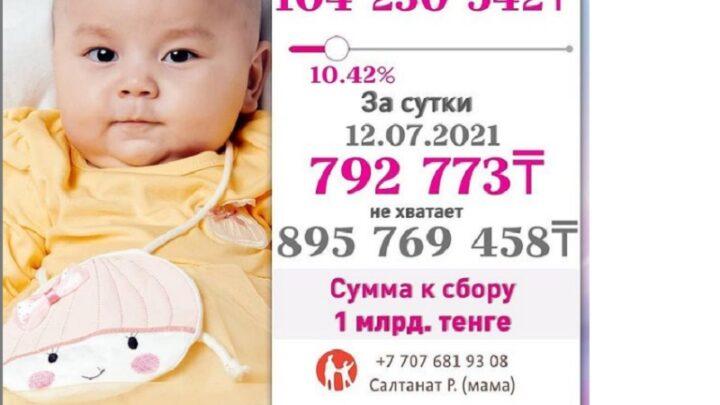 Самый дорогой препарат в мире требуется девочке из Тараза