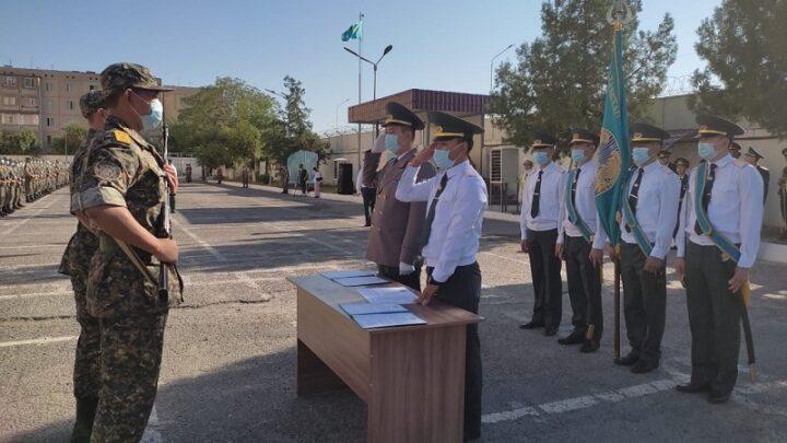 Воинской части 6506 в Шымкенте новобранцы приняли «воинскую присягу»