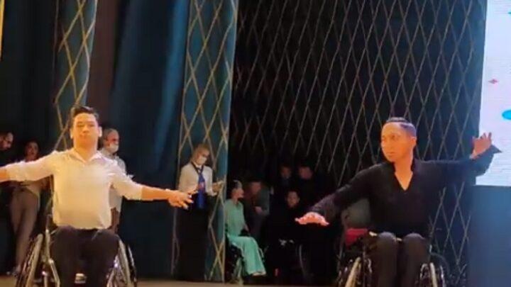 Турнир по спортивным танцам на инвалидных колясках прошел в Шымкенте