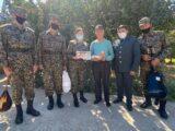 Национальная гвардия в Шымкенте наградила ветеранов